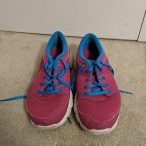 Magenta and Blue Nike Sneakers